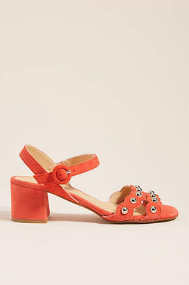 Anthropologie Mary Studded Heeled Sandals