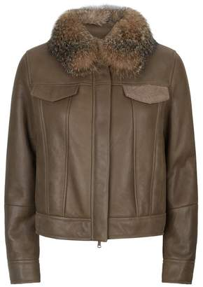 Brunello Cucinelli Fox Fur Collar Jacket