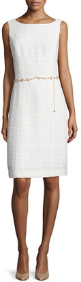 Tahari Sleeveless Tweed Dress & Jacket w/Belt $425 thestylecure.com