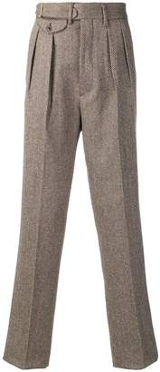 Lardini chevron pattern trousers