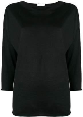 Cruciani boat neck jersey top