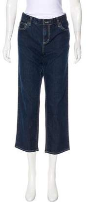 Calvin Klein Mid-Rise Cropped Jeans