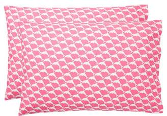 Pottery Barn Teen Cape Cod Extra Pillowcases, Set of 2, Bright Pink