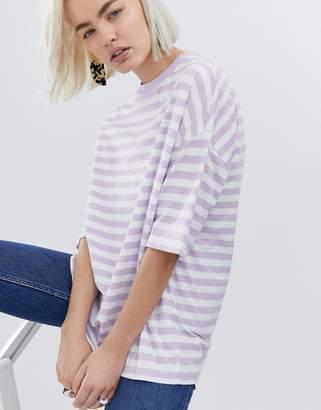 Asos Design DESIGN t-shirt in super oversized fit in chunky stripe