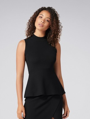 Forever New Naomi Wrap Back Tank - Black. - xxs