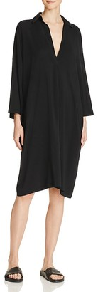 Vince Easy Knit Shirt Dress $395 thestylecure.com