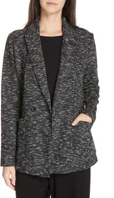 Eileen Fisher Textured Cotton Blend Blazer