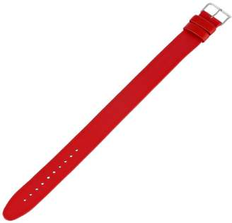 "Alessi ALSl418 Red Leather Strap for ""Record"" Al6004 Watch Strap"