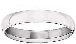 QVC Men's Platinum 4mm Half Round Wedding Band