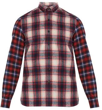 Lanvin Checked Single Cuff Cotton Shirt - Mens - Red Multi