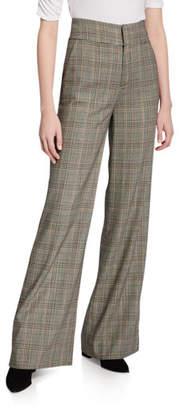 Frame Metropolitan High-Rise Check Pants