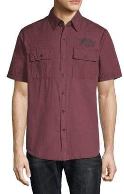 Affliction Territorial Cotton Button-Down Shirt
