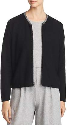 Eileen Fisher Organic Cotton Zip-Up Cardigan