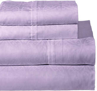 Pointehaven Printed 3-Pc. Twin Sheet Set, 300 Thread Count Cotton Sateen Bedding