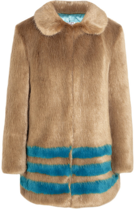 Wilma Shrimps striped faux fur coat