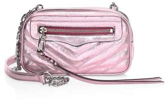 Rebecca Minkoff Double Zip Leather Crossbody Bag