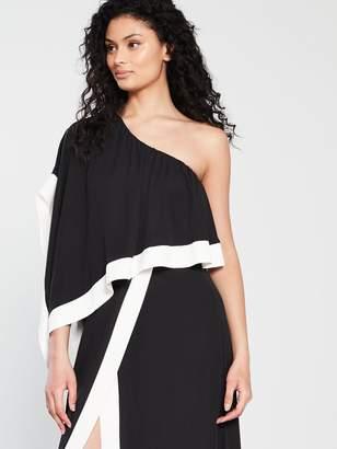 Forever Unique Keen One Shoulder Maxi Dress - Black Ivory