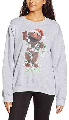 Sesame Street Women's 66.Elmo Xmas Decor Crew Neck Long Sleeve Sweatshirt,(Manufacturer Size:Small)
