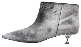 Valentino Ponyhair Ankle Boots