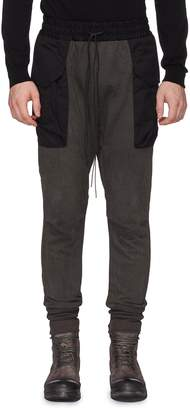 The Viridi-anne Contrast pocket skinny cargo jogging pants