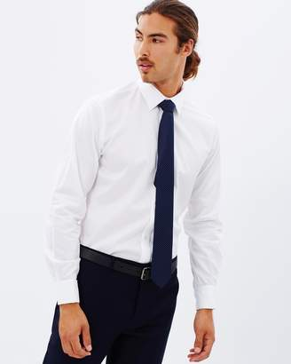 Brooksfield Plain Luxe Reg-Fit French Cuff Shirt
