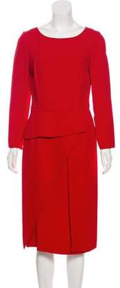 Christian Dior Long Sleeve Midi Dress