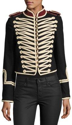 Raison D'etre Twill Marching Band Jacket, Black $145 thestylecure.com