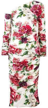 Dolce & Gabbana Peony and Rose print dress