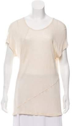 IRO Distressed Viktoria T-Shirt Beige Distressed Viktoria T-Shirt