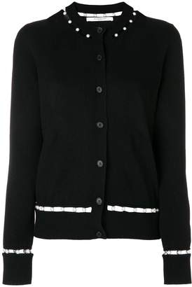 Givenchy faux pearl trim cardigan