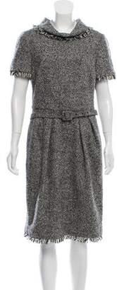 Oscar de la Renta Wool Blend Knee-Length Dress