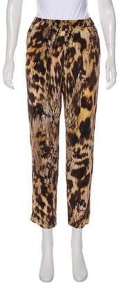 Yigal Azrouel Silk High-Rise Pants