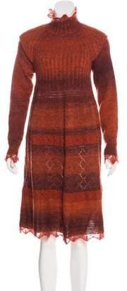 Jean Paul Gaultier Patterned Sweater Dress