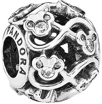 Pandora Disney Jewelry Collections Silver Cz Minnie & Mickey Infinity Charm