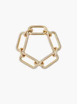 Michael Kors Pave Gold-Tone Link Bracelet