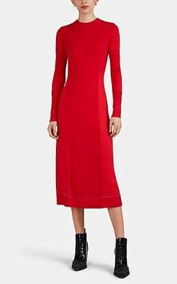 Proenza Schouler Women's Sica Mixed-Knit Silk-Blend Long Sweaterdress - Red