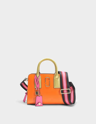 Marc Jacobs Little Big Shot Bag in Orange Split Cow Leather