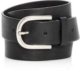 To Boot Burnished Buckle Leather Belt
