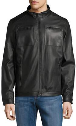 Perry Ellis Perforated Zip Jacket
