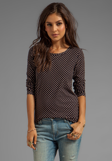 Marc by Marc Jacobs Minetta Print Jersey Long Sleeve