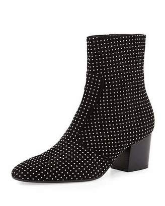 Laurence Dacade Ringo Studded Suede Bootie, Black $1,190 thestylecure.com
