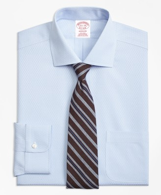 Brooks Brothers Madison Classic-Fit Dress Shirt, Non-Iron Dobby Diamond