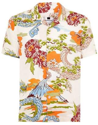 Topman Mens White Dragon Classic Shirt