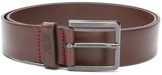 HUGO BOSS logo embossed detail belt