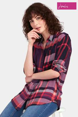 Next Womens Joules Blue Check Laurel Shirt