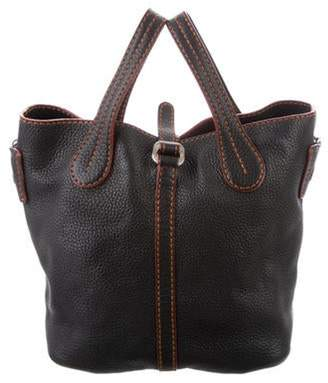 Tod's Leather Bucket Satchel Black Leather Bucket Satchel