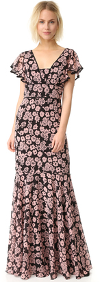 Milly Floral Print Deni Maxi Dress $775 thestylecure.com
