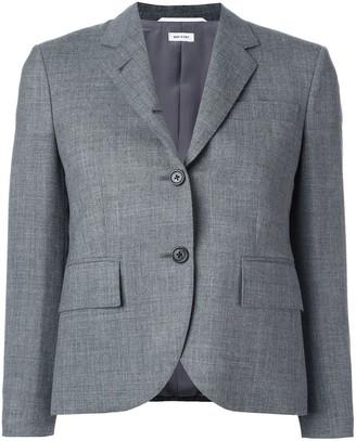 Thom Browne Classic Single Breasted Sport Coat In Medium Grey 2-Ply Wool Fresco