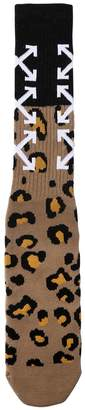 Off-White Arrows Animalier Jacquard Socks
