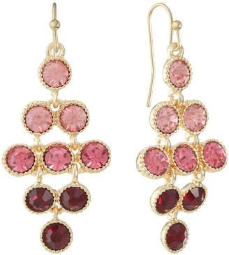 MONET JEWELRY Monet Jewelry Pink Chandelier Earrings